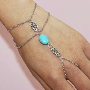 Jewelry - Boho Ring Bracelet Hand Chain